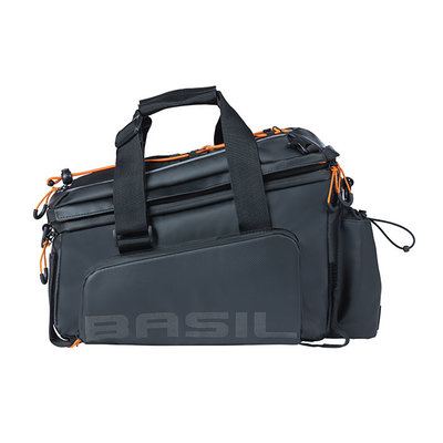 Basil Miles Tarpaulin - Gepäckträgertasche XL Pro - 9-36 Liter - schwarz