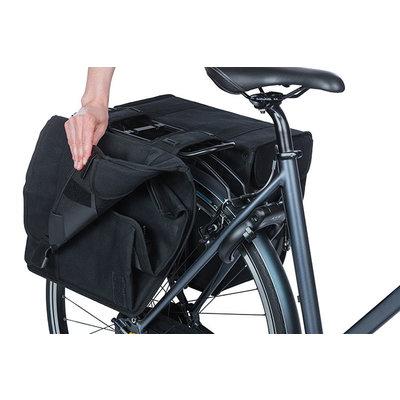 Basil Kavan Eco Classic Rounded - dubbele fietstas - 46 liter - zwart