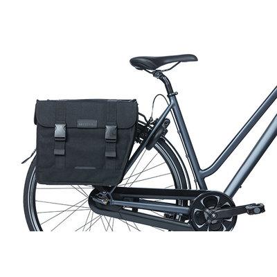 Basil Kavan Eco Classic Rounded - Fahrrad Doppeltasche - 46 Liter - schwarz