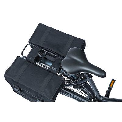 Basil Kavan Eco Classic Rounded - double pannier bag - 46 litres - black
