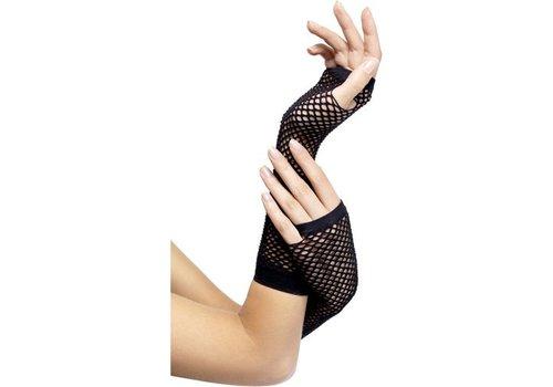 Zwarte visnet handschoenen