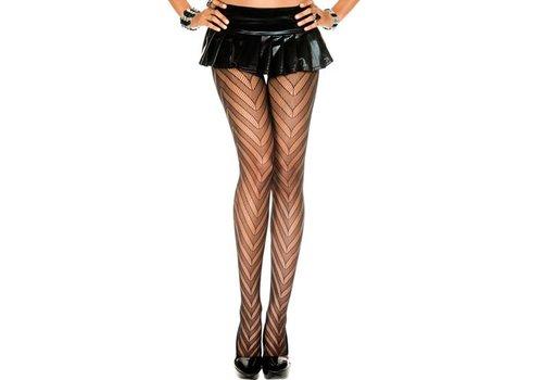 Zigzag Panty - Zwart