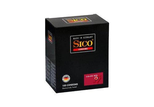 Sico Color Red Aardbei Condooms - 100 Stuks