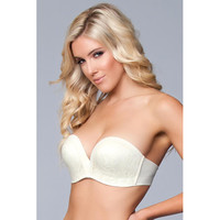 thumb-Miracle Push-Up Strapless BH - Nude-2