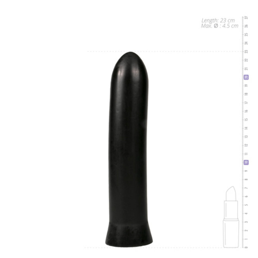 All Black Dildo 22.5 cm - Zwart-4