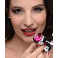 thumb-Aluminum Buttplug Met Roze Kristal - Medium-4