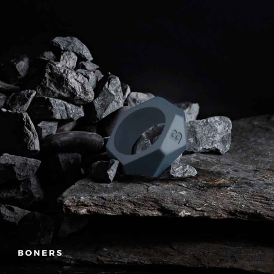 Cockring Met Diamant Design - Grijs-2