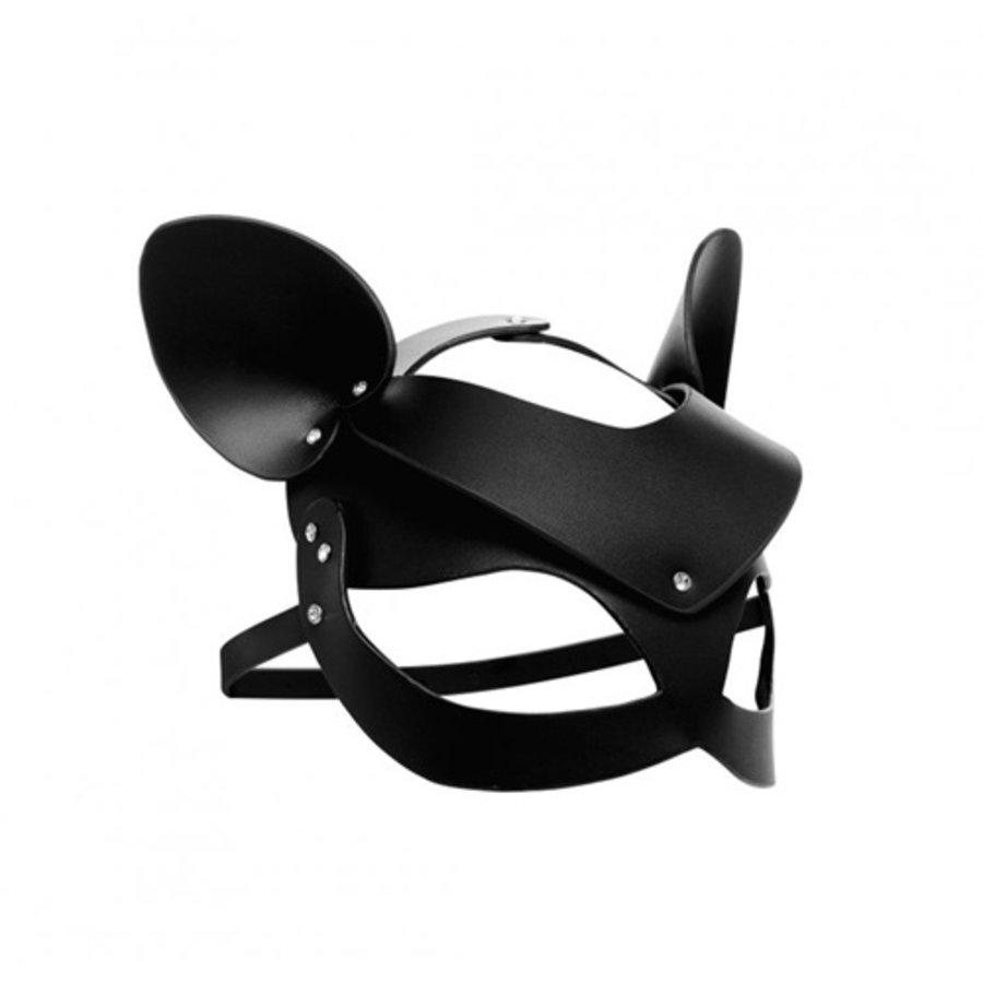 Bad Kitten - Zwart Leren Masker-1