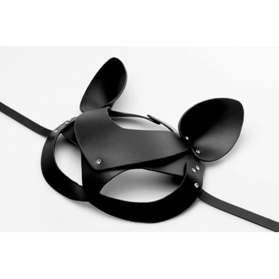 Bad Kitten - Zwart Leren Masker-2