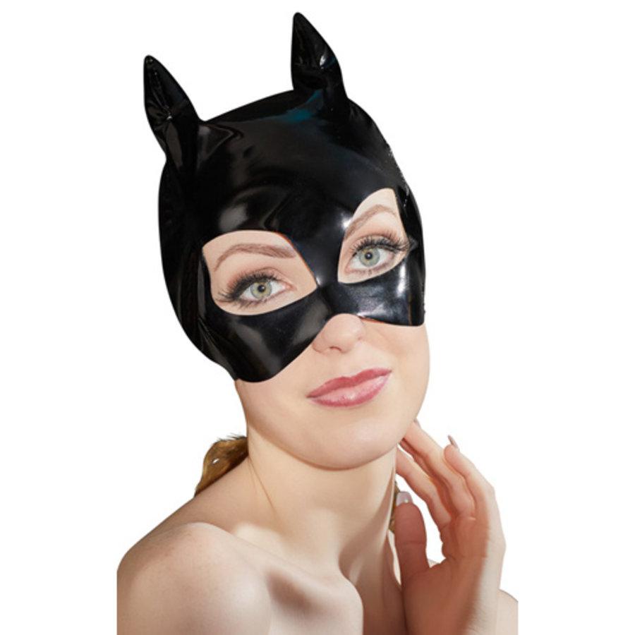 Lak Masker Met Kattenoortjes-2