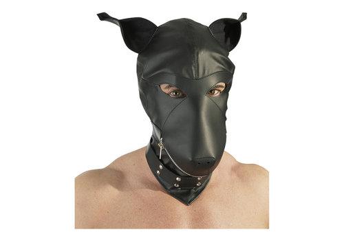 Leder imitatie hondenmasker