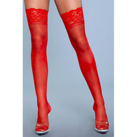 thumb-Lace Over It Hold-Up Kousen - Rood-2