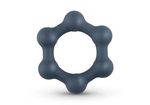 Hexagon Cockring Met Stalen Kogels