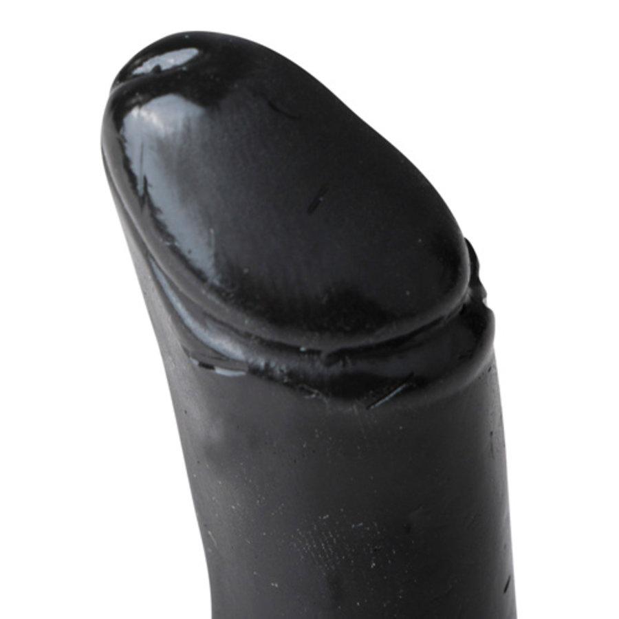 All Black Realistische Dildo Met Balzak - 7 cm-2