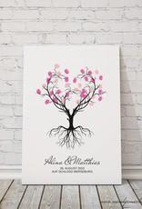 """wedding tree """"Herzbaum"""" Leinwand"""