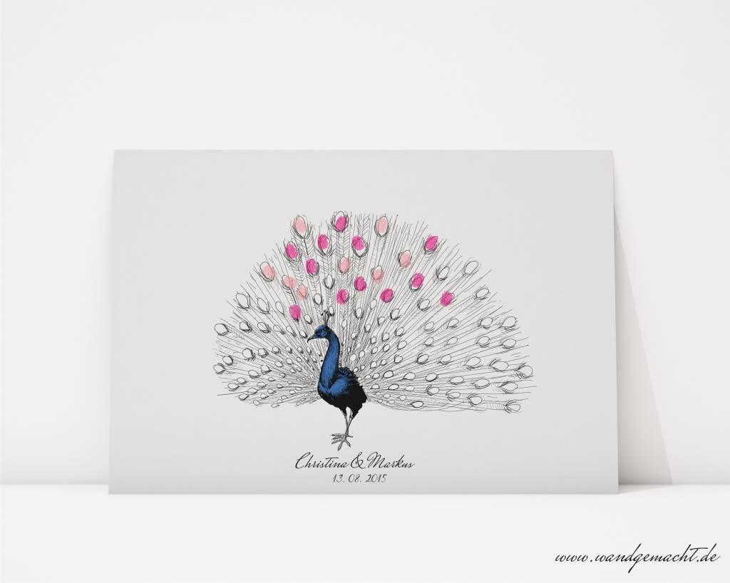 """wedding tree """"Pfau"""" Leinwand"""
