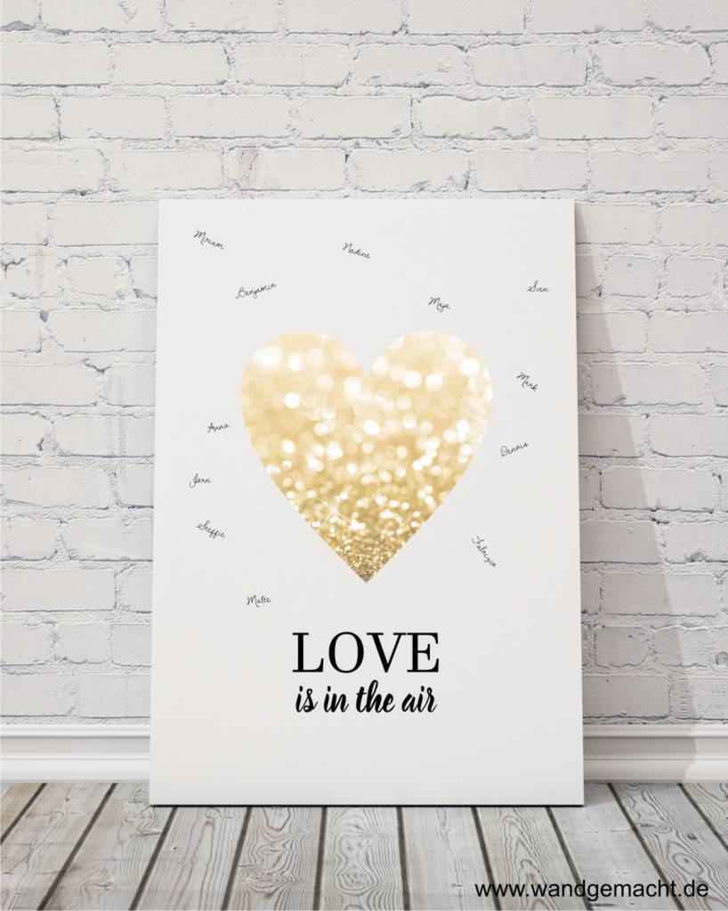 "wedding tree ""love"" Leinwand"