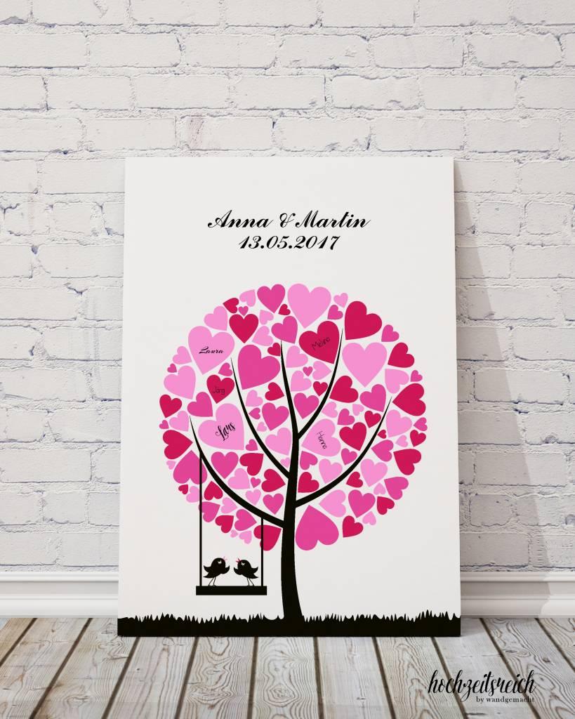 """wedding tree """"Baum mit Herzblättern"""" Leinwand"""