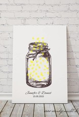 "wedding tree ""Leuchtglas"" Leinwand"