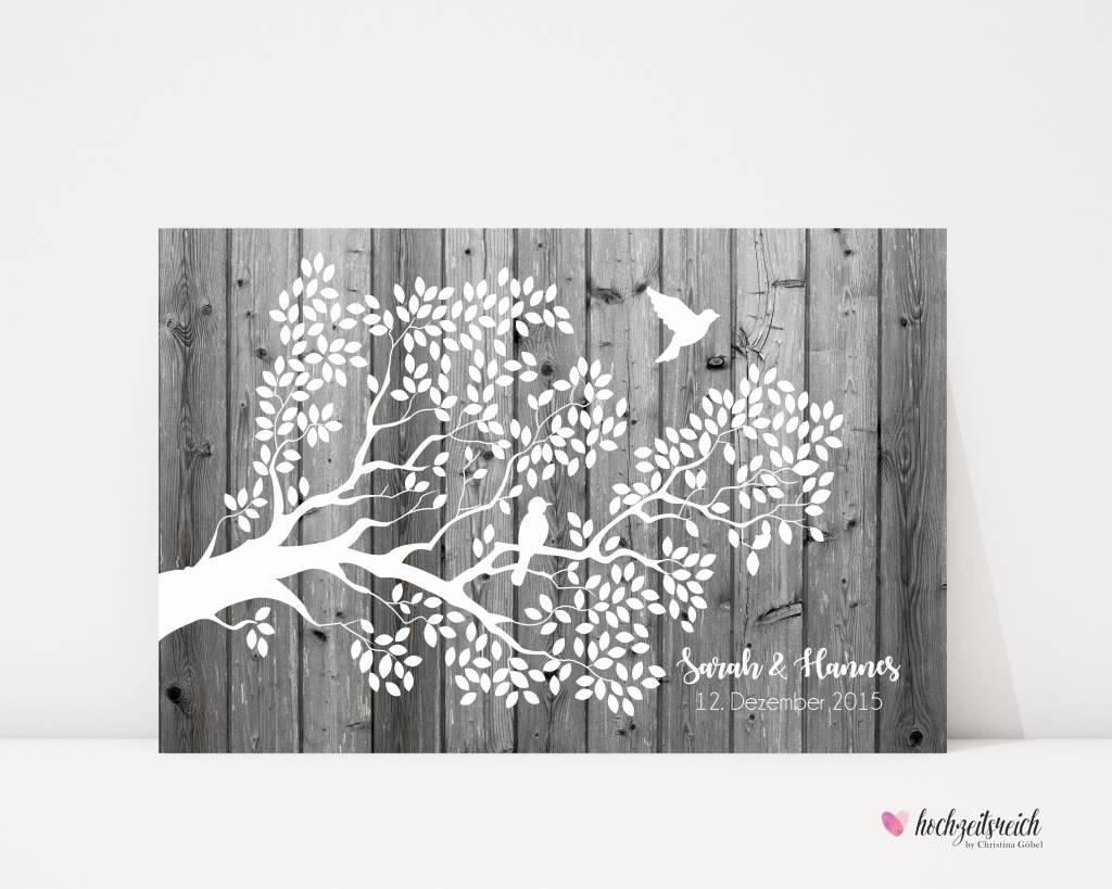 "wedding tree ""Zweig"" Leinwand"