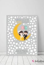 "wedding tree ""to the moon"" Leinwand"