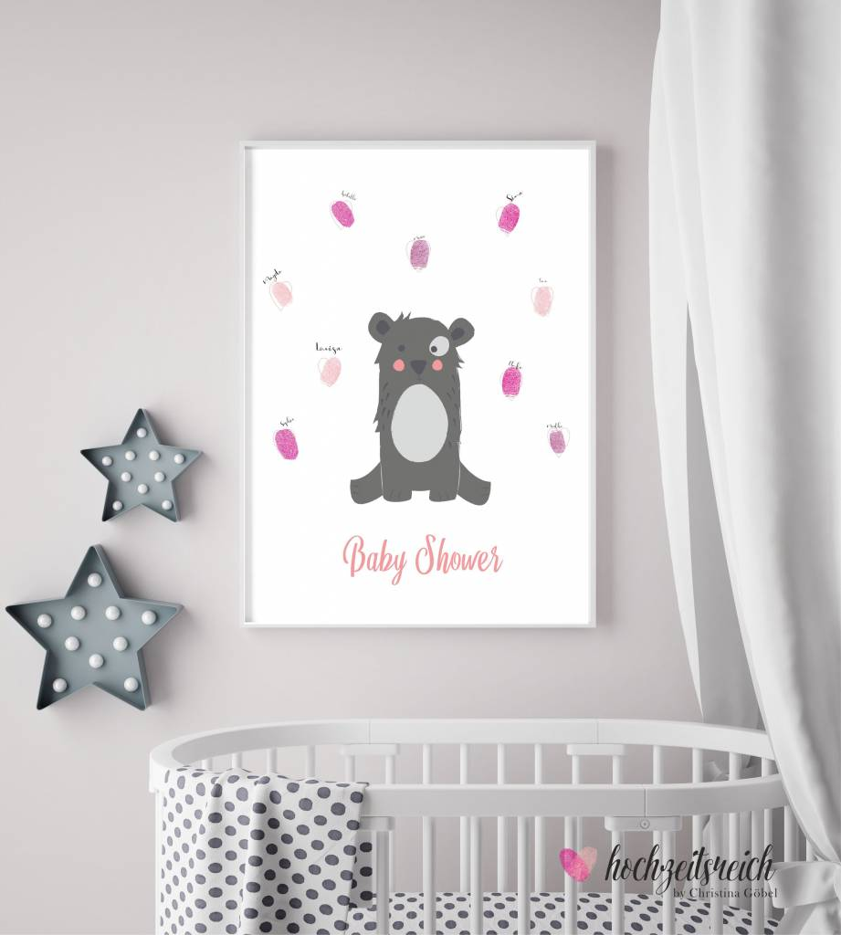 Baby Shower Fingerprint-Set Bärchen