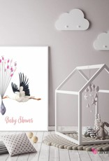 Baby Shower Fingerprint-Set Storch