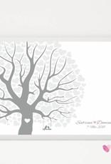 "wedding tree Fingerabdruckbaum ""Herzblattbaum"""