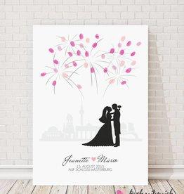 """wedding tree """"Feuerwerk"""" Leinwand"""
