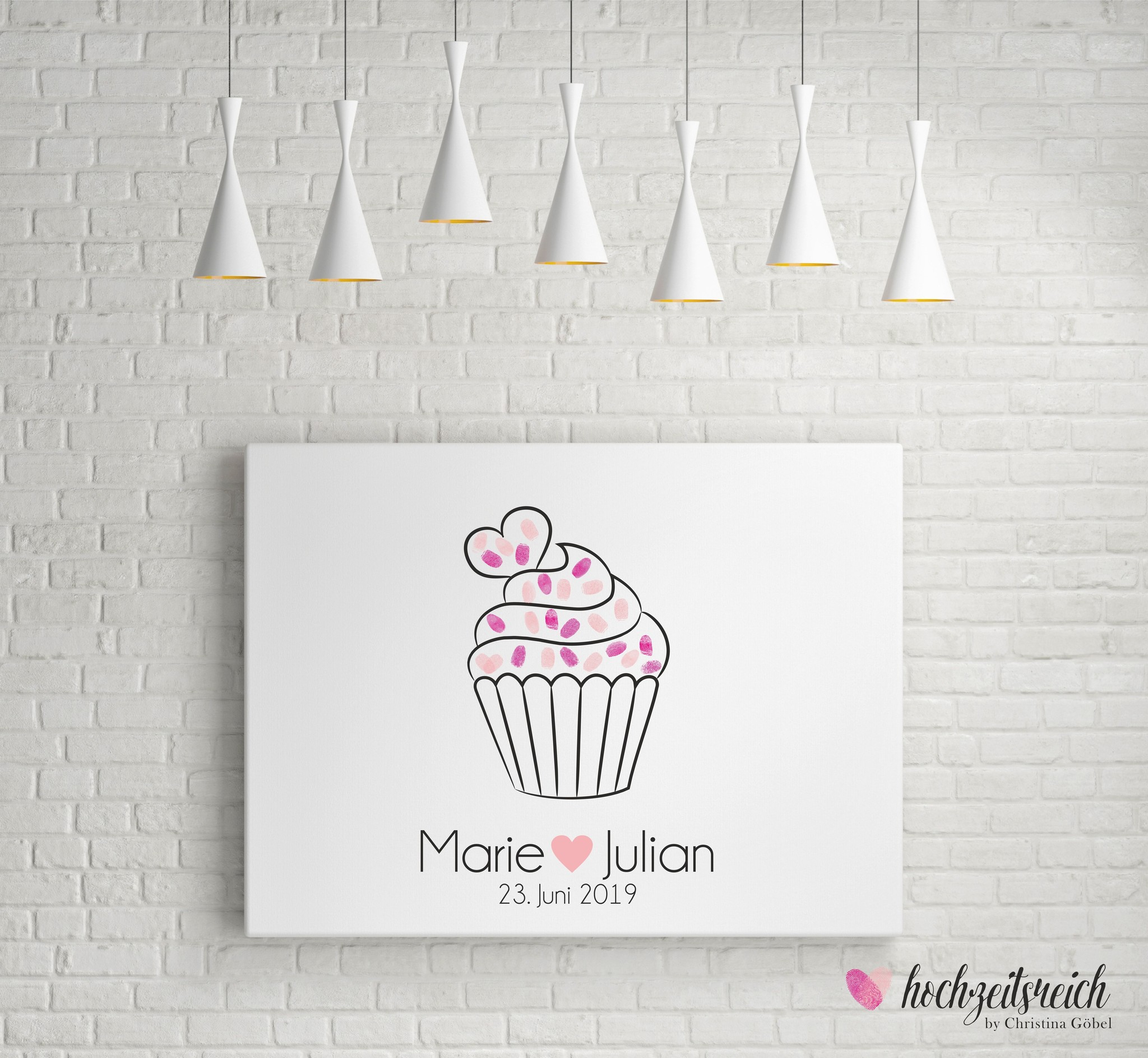 "wedding tree ""Muffin"" Leinwand"