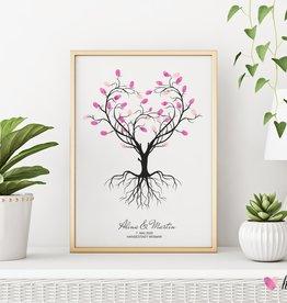 Fingerabdruckbaum wedding tree // Herzbaum