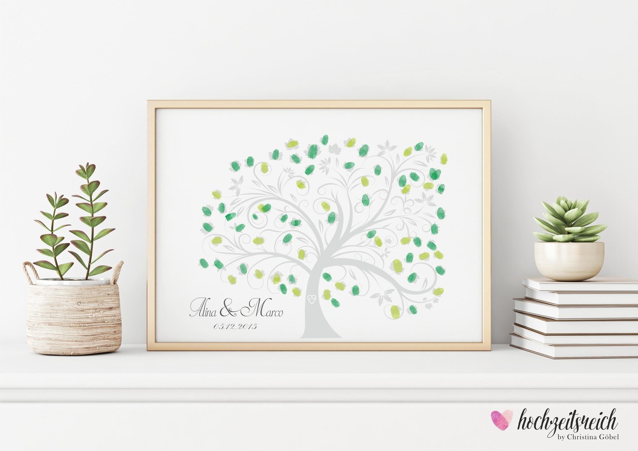 wedding tree Fingerabdruckbaum Motiv // Baum