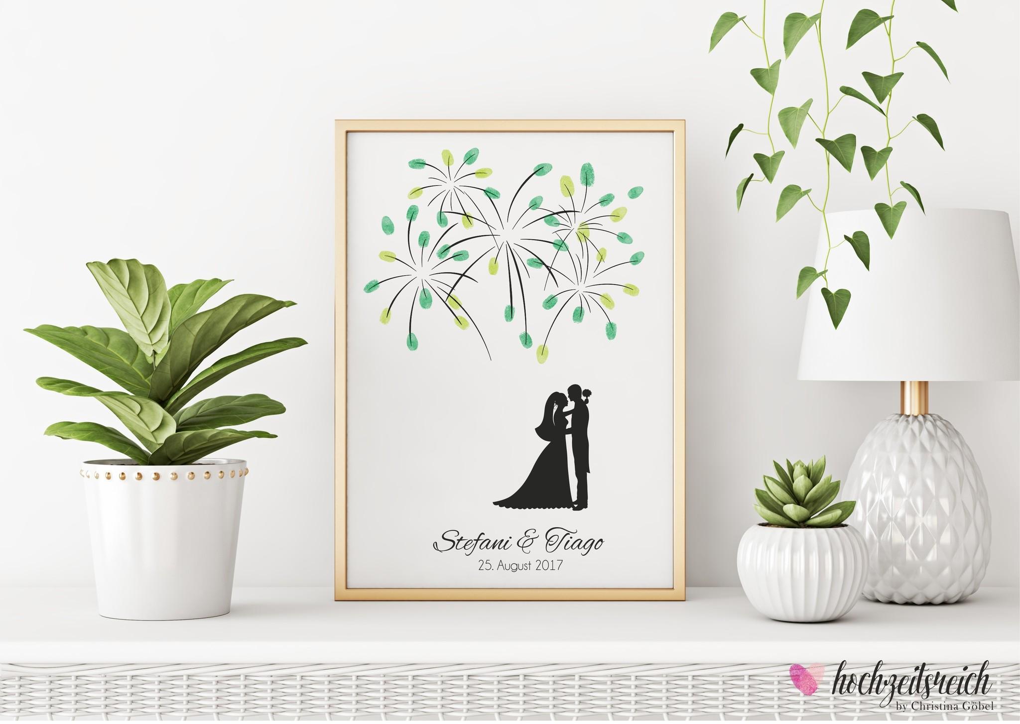 wedding tree Fingerabdruckbaum // Feuerwerk