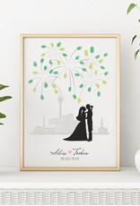 "wedding tree Fingerabdruckbaum // Skyline"""
