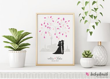 wedding tree Bambusfaserpapier