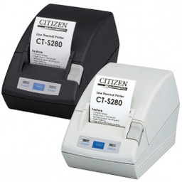 Citizen CT-S281L, USB, 8 dots/mm (203 dpi), cutter, zwart