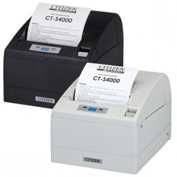 Citizen CT-S4000/L, USB, RS232, 8 dots/mm (203 dpi), cutter, wit