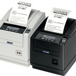 Citizen CT-S801, Ethernet, WLAN, 8 dots/mm (203 dpi), cutter, display, wit
