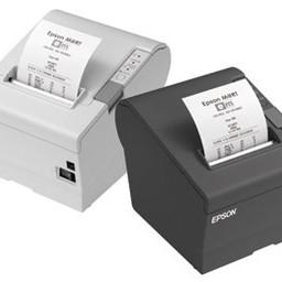 Epson TM-T88V, USB, BT (iOS), donkergrijs