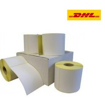 DHL verzendetiket 102x210 mm. (Kern 25 mm) 300 labels per rol