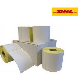 DHL verzendetiket 102x210 mm. (Kern 76 mm) 640 labels per rol