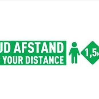 iDPos Vloer & Muur sticker - Houd Afstand - (535 x 100mm)