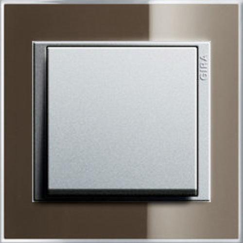 Event Clear bruin glans/aluminium mat