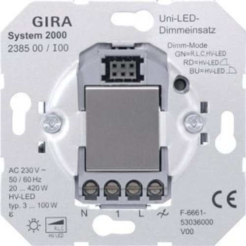 GIRA Systeem 2000 tastdimmer LED 3-100 Watt (238500)