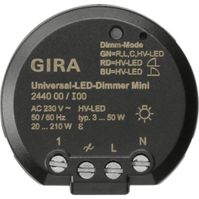 Gira universele mini LED-dimmer 3-50 Watt (244000)