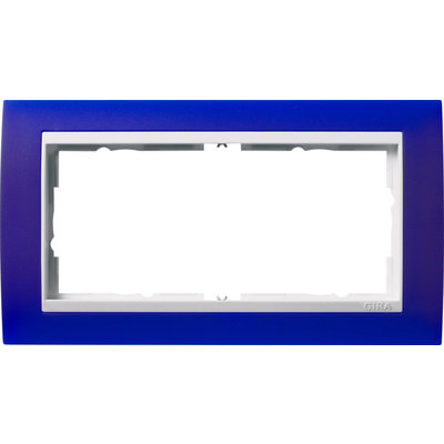 Gira afdekraam 2-voudig Event Opaque blauw mat/wit glans (1002399)