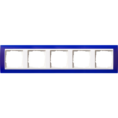 Gira afdekraam 5-voudig Event Opaque blauw mat/wit glans (0215399)
