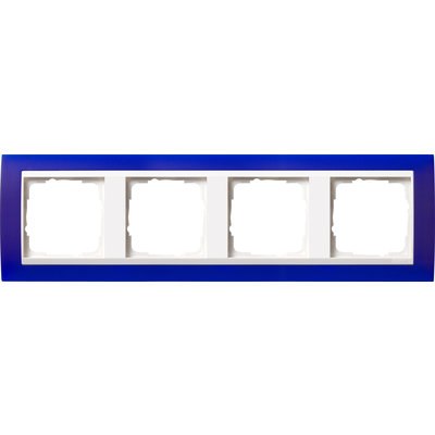 Gira afdekraam 4-voudig Event Opaque blauw mat/wit glans (0214399)