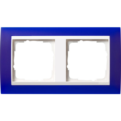 Gira afdekraam 2-voudig Event Opaque blauw mat/wit glans (0212399)