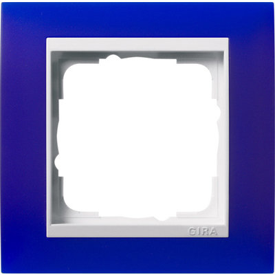 Gira afdekraam 1-voudig Event Opaque blauw mat/wit glans (0211399)